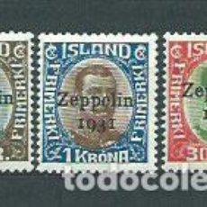 Sellos: ISLANDIA - AEREO YVERT 9/11 * MH. Lote 159544961