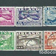 Sellos: ISLANDIA - AEREO YVERT 15/20 O AVIONES. Lote 159545089