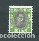ISLANDIA - SERVICIO YVERT 59 * MH (Sellos - Extranjero - Europa - Islandia)