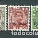 Sellos: ISLANDIA - SERVICIO YVERT 60/2 ** MNH. Lote 159545486