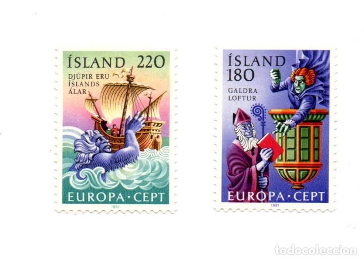 SERIE 2 SELLOS ISLANDIA Nº CATALOGO 418-419 (Sellos - Extranjero - Europa - Islandia)