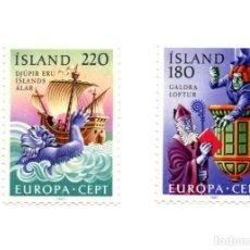 Sellos: SERIE 2 SELLOS ISLANDIA Nº CATALOGO 418-419. Lote 170081064