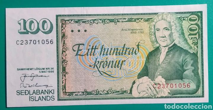 ISLANDIA 1986. BILLETE 100 KRÓNUR. EBC**. (Sellos - Extranjero - Europa - Islandia)