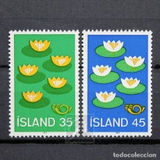 Sellos: ISLANDIA 1977 ~ PROTECCIÓN DE LA MEDIO AMBIENTE ~ SERIE NUEVA MNH LUJO. Lote 178616868