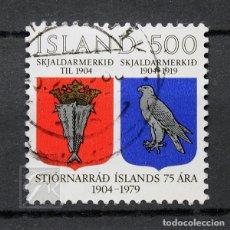 Sellos: ISLANDIA 1979 ~ ANIVERSARIO DEL GABINETE DE ISLANDIA ~ SELLO USADO BUENO. Lote 178617852