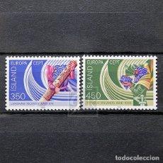 Sellos: ISLANDIA 1982 ~ EUROPA: ACONTECIMIENTOS HISTÓRICOS ~ SERIE NUEVA MNH LUJO. Lote 178814751