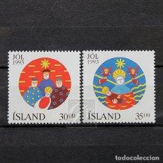 Sellos: ISLANDIA 1993 ~ NAVIDAD ~ SERIE NUEVA MNH LUJO. Lote 178821651