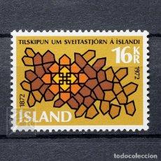 Sellos: ISLANDIA 1972 ~ LEGISLACIÓN MUNICIPAL ~ SELLO NUEVO MNH LUJO. Lote 178908007