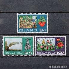 Sellos: ISLANDIA 1972 ~ CULTIVOS EN INVERNADERO ~ SERIE NUEVA MNH LUJO. Lote 178908111
