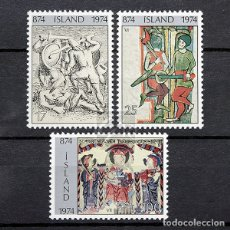 Sellos: ISLANDIA 1974 ~ 1100 AÑOS DE ASENTAMIENTOS EN ISLANDIA (II) ~ SERIE NUEVA MNH LUJO. Lote 178908876