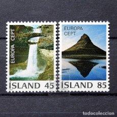 Sellos: ISLANDIA 1977 ~ EUROPA: PAISAJES ~ SERIE NUEVA MNH LUJO. Lote 178909155