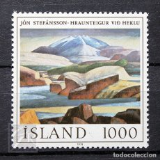 Sellos: ISLANDIA 1978 ~ JÓN STEFÁNSSON: PINTOR ~ SELLO NUEVO MNH LUJO. Lote 178910388
