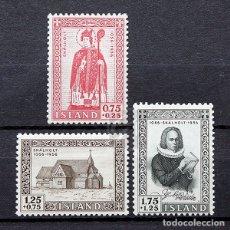 Sellos: ISLANDIA 1956 ~ IGLESIA DE SKÁLHOLT ~ SERIE NUEVA MNH LUJO. Lote 178949698
