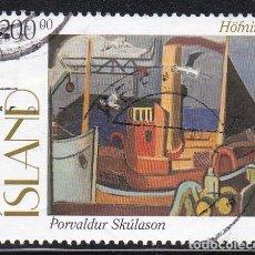 Sellos: ISLANDIA 1997 - PINTURA SELLO USADO YVERT Nº 822. Lote 180421816