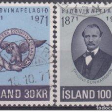 Sellos: SELLOS USADOS DE ISLANDIA, YT 408/ 09. Lote 182019161