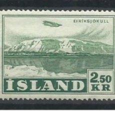 Sellos: SELLOS USADOS DE ISLANDIA, CORREO AEREO YT 27/ 29. Lote 182464097