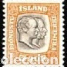 Sellos: SELLO NUEVO CON MARCA DE CHARNELA DE ISLANDIA 1907, SERV YT 26. Lote 183167300