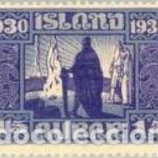 Sellos: SELLO NUEVO CON MARCA DE CHARNELA DE ISLANDIA, YT 127. Lote 183168003