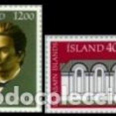 Sellos: SELLOS USADOS DE ISLANDIA, YT 575/ 76. Lote 183657327