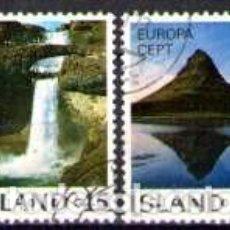 Sellos: SELLOS USADOS DE ISLANDIA, YT 475/ 76. Lote 185893211