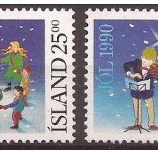 Sellos: SELLOS USADOS DE ISLANDIA, YT 689/ 90. Lote 185894305