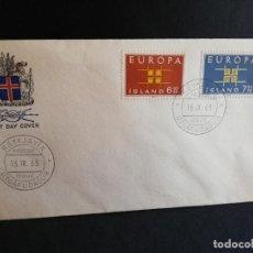 Sellos: SOBRE PRIMER DIA. EUROPA. ISLAND. 1963.. Lote 186147163