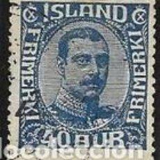 Sellos: SELLO USADO DE ISLANDIA, YT 109, FOTO ORIGINAL.. Lote 186214812