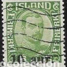 Sellos: SELLO USADO DE ISLANDIA, YT 104, FOTO ORIGINAL.. Lote 186214955