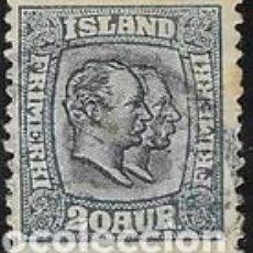 Sellos: SELLO USADO DE ISLANDIA, YT 55, FOTO ORIGINAL. Lote 186215342