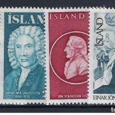 Sellos: SELLOS NUEVOS DE ISLANDIA, YT 458/ 61. Lote 186228491