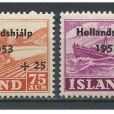 Sellos: SELLOS USADOS DE ISLANDIA, YT 243/ 44. Lote 186228770