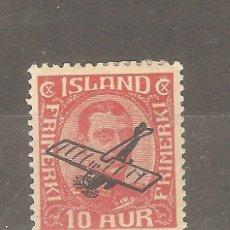 Sellos: ISLANDIA,1 VALOR,1927, YT PA1,NUEVO,G.ORIGINAL,FIJASELLOS.. Lote 186463067