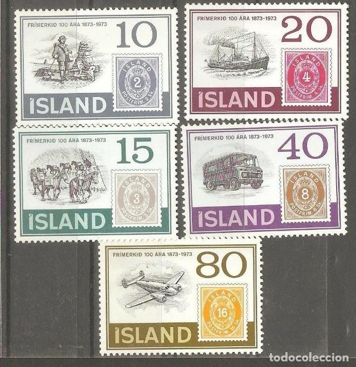 ISLANDIA, 1973 CAT.YT. 426 A 430, NUEVOS, GOMA ORIGINAL,FIJASELLOS. (Sellos - Extranjero - Europa - Islandia)