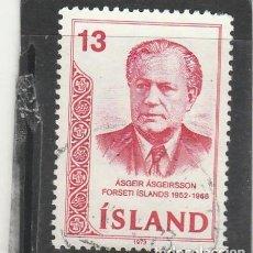 Sellos: ISLANDIA 1973 - YVERT NRO. 433 - USADO. Lote 191936078