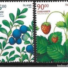 Sellos: SELLOS USADOS DE ISLANDIA 2005, YT 1034/ 35. Lote 192781060