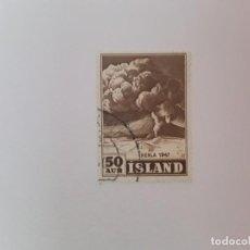 Timbres: ISLANDIA SELLO USADO. Lote 193727163