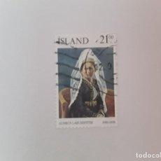 Timbres: ISLANDIA SELLO USADO. Lote 193727220