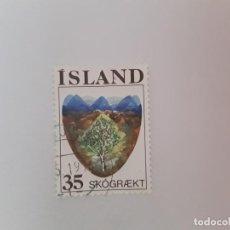Timbres: ISLANDIA SELLO USADO. Lote 193727335