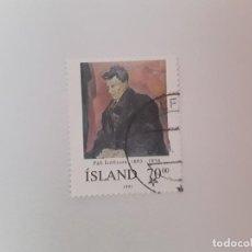 Timbres: ISLANDIA SELLO USADO. Lote 193727407