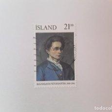 Timbres: ISLANDIA SELLO USADO. Lote 193727502