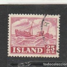 Sellos: ISLANDIA 1954 - YVERT NRO. 255 - USADO. Lote 195050655