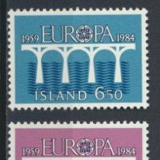 Sellos: SELLOS NUEVOS DE ISLANDIA, YT 567/ 68.. Lote 195164697