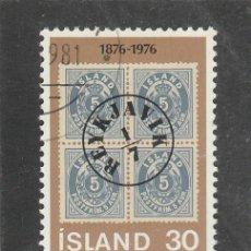 Sellos: ISLANDIA 1976 - YVERT NRO. 471 - USADO - MATASELLADO DE FAVOR. Lote 198158590