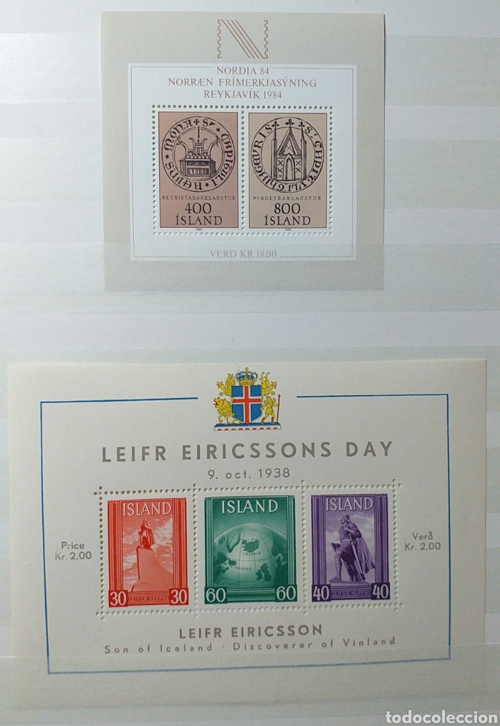 Sellos: Colección de sellos de Islandia muy completa desde el inicio, mucho nuevo, en álbum de 16 páginas - Foto 21 - 200086518