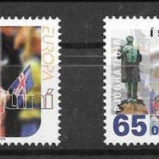 Sellos: ISLANDIA, MNH, FIESTAS DEL 17 DE JUNIO, EUROPA CEPT 1998 (FOTOGRAFÍA REAL). Lote 202591805