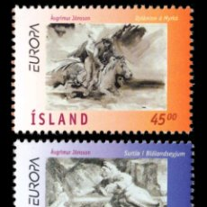 Sellos: ISLANDIA, N°825/26 MNH, CUENTOS Y LEYENDAS, EUROPA CEPT 1997 (FOTOGRAFÍA REAL). Lote 202626993