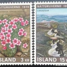 Sellos: 1970. ISLANDIA. 400 / 401. AÑO EUROPEO DE LA CONSERVACIÓN DE LA NATURALEZA. SERIE COMPLETA. NUEVO.. Lote 203061018