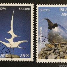 Sellos: ISLANDIA, EUROPA CEPT 1993, ARTE CONTEMPORÁNEO, USADA (FOTOGRAFÍA REAL). Lote 203310621