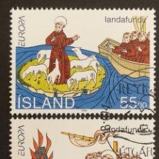 Sellos: ISLANDIA, EUROPA Y LOS DESCUBRIMIENTOS 1994, USADA (FOTOGRAFÍA REAL). Lote 203341498