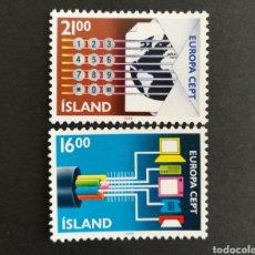 Sellos: ISLANDIA, EUROPA CEPT 1988 MNG, TRANSPORTES Y COMUNICACIONES (FOTOGRAFÍA REAL). Lote 204054153